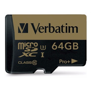 Tarjeta Verbatim Microsdxc Pro Plus 600x 64gb Clase 10 4k
