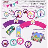 Kit Imprimible Personalizado Cumpleaños Ben Y Holly Nena
