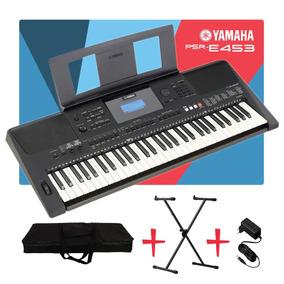 Teclado Yamaha Psr E453 + Fonte + Suporte + Bag + Frete
