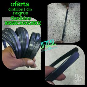 Cintillos Flexibles De 1 Cm Negros
