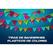 Banderines De Plastico A Colores Surtidos