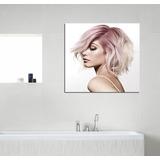 Cuadro Peluqueria Fucsia Rosa Silver Fantasia Haircuts 30x30