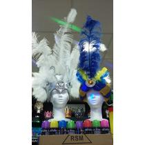 Combo Casco De Plumas Y Turbante Carnaval Carioca Casamiento