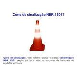 4 Cones Flexível Refletivo Nbr 15071 Kit De Emergencia 9735