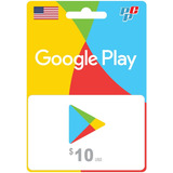 Tarjeta Google Play Gift Card 10 Usa Digital - Prepagochile