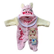 Mameluco Pijama Para Bebé Cerdita Talla 3-6 Meses