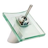 Grifería Cascada De Vidrio Para Baño Monocomando Cerámico