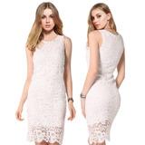 Vestido Renda Branco Casamento Civil Noiva