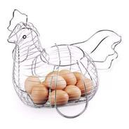 Gallina Huevera Cromada Porta Huevos Animal Original Granja