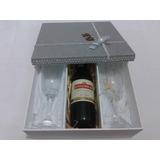 Artesanato Mdf Caixa Presente C/ 2 Taças/1 Vinho