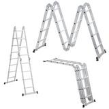 Escada Alumínio Articulada 4x4 16 Degraus Vonder