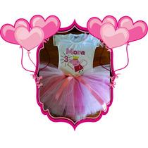 Remera + Tutu - Cumpleaños Personalizada - Peppa Pig Disfraz