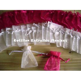Bolsas Bolsitas Organza Tul 7x9cm 10 Cotillon Souvenirs
