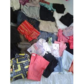 Lote 32 Shorts Bermudas Blusas E Calcas Feminino Tm 36 Usada