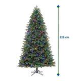 Arbol De Navidad Artificial 2.28m Con 600 Luces Led + Bolsa