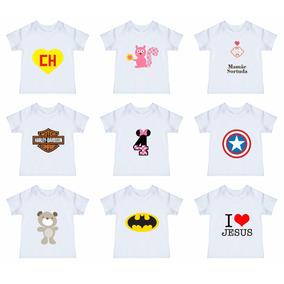 Camiseta Infantil Lisa P/ Sublimação 100% Poliéster Confira!