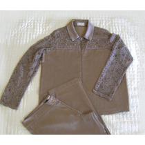 Conjunto Blusa/blazer + Calça Social Festa Gg