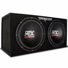 Cajón Con Par Subwoofers 2 Bobina 12 Pulg Mtx Audio Tne212d