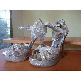 77938afd Sandalias Tacon Alto Plateadas Elegantes - Zapatos Mujer en Mercado ...