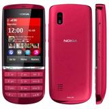 Celular Nokia Asha300 1 Chip Tela 2.4 Rádio 5mp Red-grafite