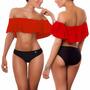Vestidos De Baño Bikinis Copas Top Campesino Bandeja 1318