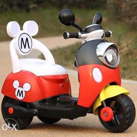 Lote 10 Motos Electrica Montable Disney Mickey Mouse Niños