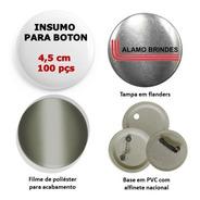 Insumo Suprimento Para Boton Button Botton 100 Pçs De 4,5 Cm