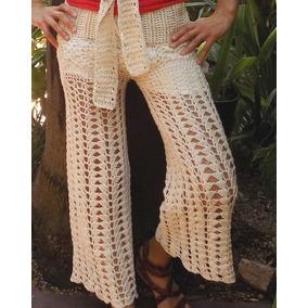 Tejidos Crochet Pantalon De Hilo Con Seda
