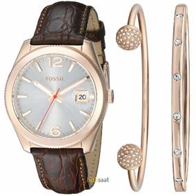Relógio Fossil Ladies Kit Com Braceletes Es3770