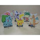 Kit 10 Display Pokemon Go Decoração De Mesa,festas