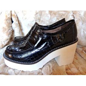 Zapatos Mujer Botineta Mocasín No Forever 21 No Hym