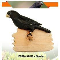Porta Nome Pássaro Em Resina Bicudo