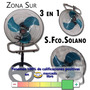 Ventilador 3 En 1 80w Pie Turbo Pared Paleta Metalica Solano
