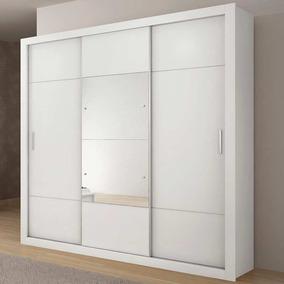 Guarda-roupa Arezzo 3 Portas - Novo Horizonte Branco