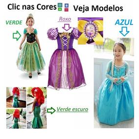 Vestido Fantasia Frozen Elza Elsa Disney Princesa Festa