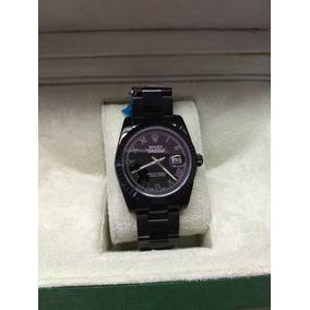 Reloj Rolex Date Just Black Sin Caja