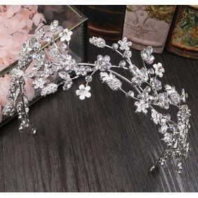 Tiara Arranjo Coroa Headband Enfeite Cabelo Noiva Cristais