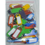 Llaveros Plasticos X 25 Unidades Tarjeteros Identificadores