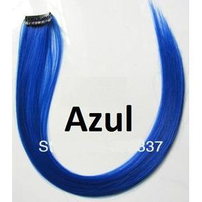 Mecha Colorida Tic Tac 3cm X 50cm - Azul - Frete R$7,00