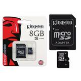 Cartão De Memória Pra Celular 8gb Kingston Original Lacrado