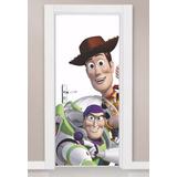 Adesivo Decorativo Parede Porta Toy Story Woody Buzz Barato