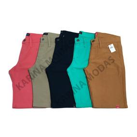 Kit 5 Bermudas Masculina Coloridas Sarja / Jeans Atacado