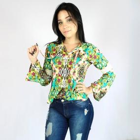 Blusa Feminina Ciganinha Camisa Manga Longa Sino