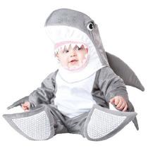 Trajes Incharacter, Tiburón Tonto Llc, Gris/blanco, Medio (