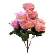 Buquê De Rosas X9 55cm - Rosa Outono