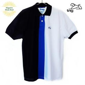 Camisa Polo Masculina Tng Fio Tinto - 3 Cores