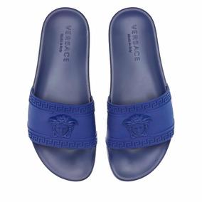 Sandalias Versace Gucci Azul Rey Envío Gratis