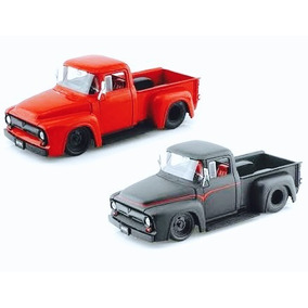 Colección 2 Camionetas 1956 Ford F100 Pickup 1:24 Jada
