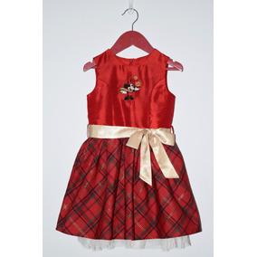 Vestido De Niña Navidad Disney Original Seminuevo