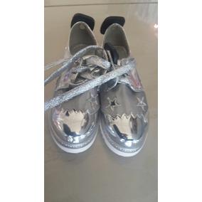 Zapatos Tipo Oxford De Malla Para Niñas A La Moda Brillantes